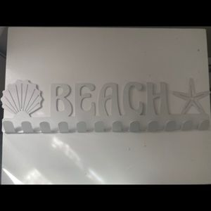 Beach Sign with hanging hooks
